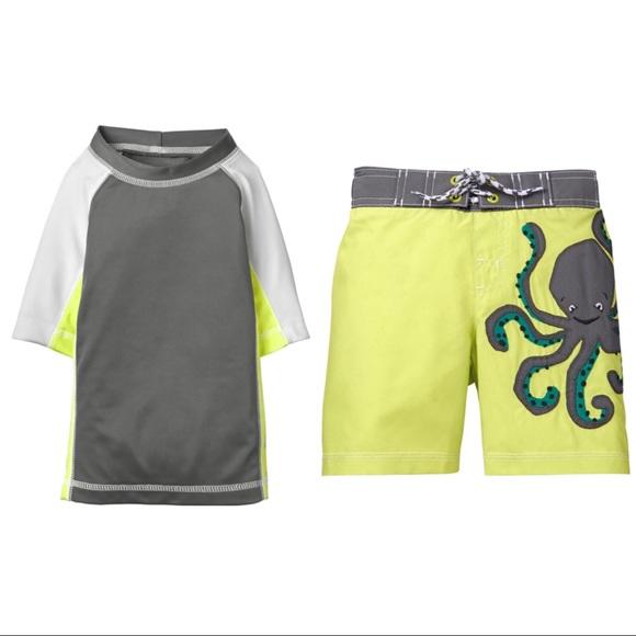 180c9e776c Gymboree Swim | Boys Nwt Trunks Rash Guard Set | Poshmark